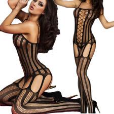 Bodystocking rete sexy calza corpo lingerie intimo donna catsuit nuovo DS79401