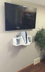 PlayStation 5 PS5 Wall Mounted Shelving  Handcrafted Strong Durable Real Wood