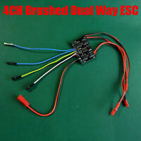 16:1 4CH Brushed ESC Motor Bidirectional Speed Controller for RC Tank Car Model