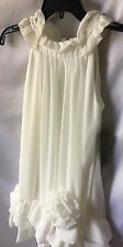 Isobella and Chloe Girls Ivory Ruffle Bottom Dress Size 7 -New