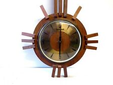 Vintage 'Timemaster' Automatic Quartz Teak 'Comet' Wall Clock