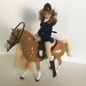 Barbie Doll & Walking Beauty Horse Set 1998 Walks Neighs Blow Kisses Works Video