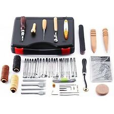 Leather Craft Hand Tools Kit Stitching Sewing Stamping Set 59 Pc Saddle Making
