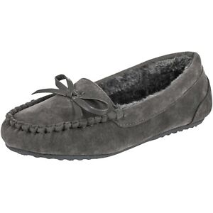 [NEW] CLOVERLAY Women's Moccasin Vegan Fur Lined Suede Moccasins Slippers
