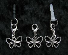 BUTTERFLY ~ Clip or Plug In Charm - Dust Cap for Mobiles, iPods, Bracelets