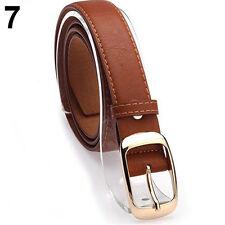 Fashion Womens Paint Leather Alloy Pin Buckle Waist Strap Belts Waistband Ornate