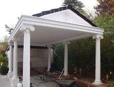 Carport klassisch mit 6 Säulen 3,5 x 6 m Spitzdach gedeckt inkl. Montage Luxus