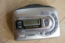 Aiwa Tx394 Walkman Am/Fm Digital Tuner Cassette Player