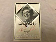Ed Doolan Original Signature Autograph on Ed Doolan Picture