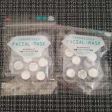 2 DAISO JAPAN Facial Over Ear & Neck Compressed Mask 10pc