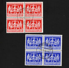 1948 Germany Hanover Fair Blocks Sc#584-5 Used