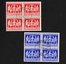 1948 Germany Hanover Fair Blocks Sc#584-5 Used