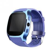 Luxus SmartWatch T8 Blau Bluetooth Uhr Android Samsung iPhone SIM Kamera Blue