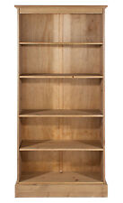 Cotswold Solid Antique Pine 5 Shelf Tall Bookcase CT713