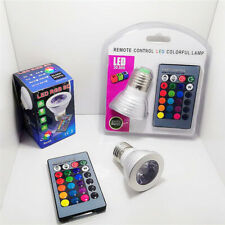 RGB spotlight color changing LED light wireless remote control spotlight 3W