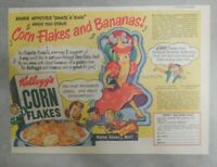 Kellogg's Cereal Ad: Corn Flakes Chiquita Banana From 1949 Size: 7 x 10 inches