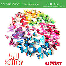 New 3D Butterfly Wall Decal Removable Sticker Kids Art Nursery Xmas Decoration