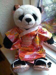 Build a Bear WWF Panda with HTF japanese kimono robe
