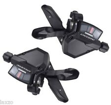Shimano SL-M590 Deore 3 x 9 Speed Rapidfire Plus Gear Lever Shifter Pods Pair