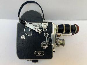 Vintage Paillard BOLEX H16 REFLEX 16mm Movie Film Camera & 2 Lenses