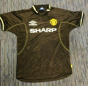 Black Manchester United Shirt Original MUFC Mens Medium M SHARP