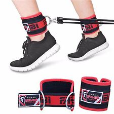 "Cable Machine Ankle Strap with ""D"" Ring Hook-and-Loop Closure Fitness Thigh Pull"