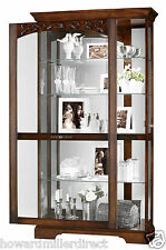 Howard Miller 680 445 Hartland   Traditional Cherry Curio Display Cabinet