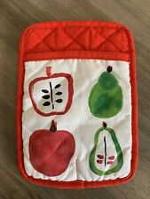 Kate Spade Red White Apple Pear Kitchen Potholder Oven Mit