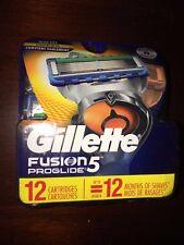 Gillette Fusion Proglide 12 Cartridges Razor Blades Fusion 5 Authentic 8998
