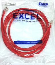 Excel h002mplrd / X rosso 2M RJ45 Cat5e UTP Crossover Cavo di rete, NUOVO STOCK