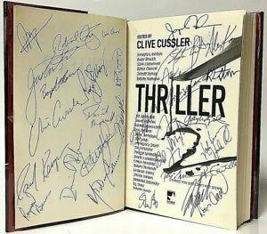 RARE Multi-Signature THRILLER 2 Horror Anthology Hardcover Book Cussler Mira ITW