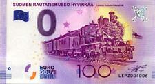 FINLANDE Hyvinkää, Suomen Rautatiemuseo, 2017, Billet 0 € Souvenir