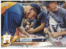 2018 Topps OD Stadium Signatures 5x7 14/49 Joe Musgrove Houston Astros SET BREAK