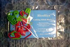 HIYA HIYA LOCKING STITCH MARKERS - 12 MARKERS PER PACKAGE - 6 PINK & 6 GREEN