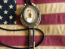 Handcrafted in The UK New Scorpion Bolo Tie Leather Cord Antique Gold Metal Goth
