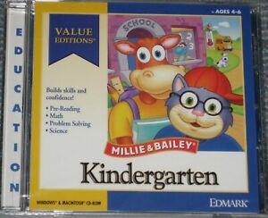 NEW Sealed Millie & Bailey KINDERGARTEN - PC or MAC Game - Free Shipping !