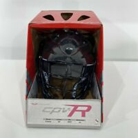 NWT Cascade CPV-R Lacrosse Helmet S/M Black Facemask With Box LAX $110