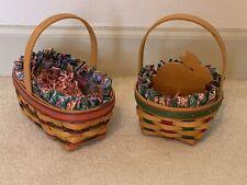 2 Longaberger Easter Baskets - 97 Complete. 99 Rabbit Complete