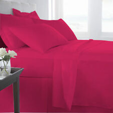 1000 Thread Count Egyptian Cotton Duvet Set Collection All Size Hot Pink Solid