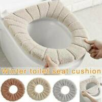 Soft Bathroom Toilet Seats Closestool Washable Warmer Mat Cover Pad Cushion NEW