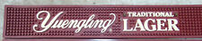 """YUENGLING LAGER Rubber Bar Drip Spill Mat Beer 21"""" RED/WHITE ** NEW ** RARE"""