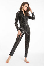 V Neck Wet look, Shiny Jumpsuits & Playsuits for Women