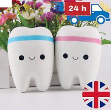 JUMBO Squishy Cute Tooth   Teeth Soft Fun Slow Rising Release Kid Toy Gift UK  