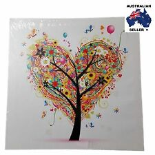Colourful 'HEART' Tree Of Life Framed Canvas Print NEW 40x40cm