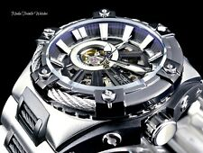Invicta S1 Rally Bolt Hybrid Automatic Open Heart Black & Silver Bracelet Watch