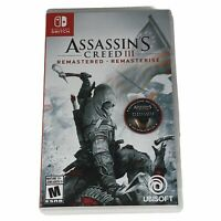 Assassin's Creed III Remastered (Nintendo Switch 2019) Brand New Plastic Removed
