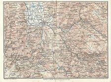 Carta geografica antica PIANO DI RIETI SABINA NORD TCI 1924 Old antique map