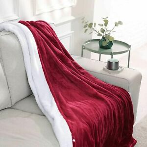 MaxKare Reversible Fast Heated 50 x 60 inch Electric Blanket Red NA-T1611B