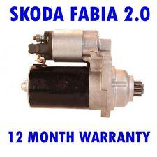 SKODA FABIA 2.0 HATCHBACK 1999 2000 2001 - 2008 REMANUFACTURED STARTER MOTOR