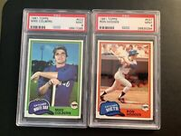 Lot of 2 1981 Topps #522 Mike Colbert / #537 Ron Hodges Both PSA 9 Mint!